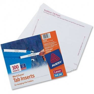 Avery® Tab Inserts for Hanging File Folders (PK/PACKAGE)