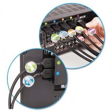 Dotz  Cord Identifier Kit, 12 Regular/12 Jumbo Clear Ids, Inserts & Stickers