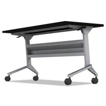 Safco  Mayline  Flip-N-Go Table Base, 46 7/8w X 21 1/4d X 27 7/8h, Silver