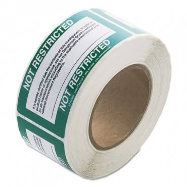 Shipping And Handling Self-Adhesive Label, 5 X 2 1/4, Not Restricted, 500/roll