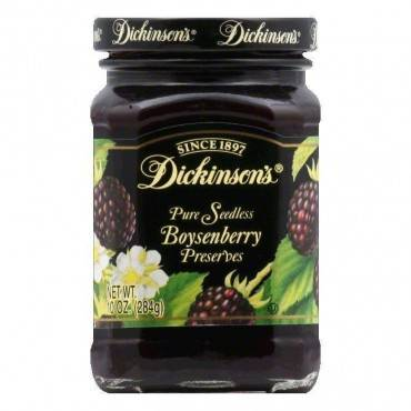Dickinson - Pure Seedless Boysenberry Preserves - Case Of 6 - 10 Oz.