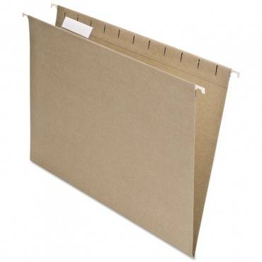 Earthwise By Pendaflex Recycled Hanging File Folder, 1/5 Cut, Ltr, Nat., 25/bx