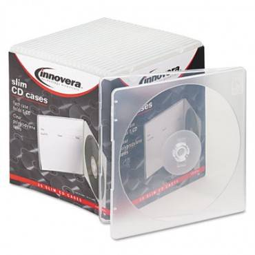 Innovera  Slim Cd Case, Clear, 25/Pack