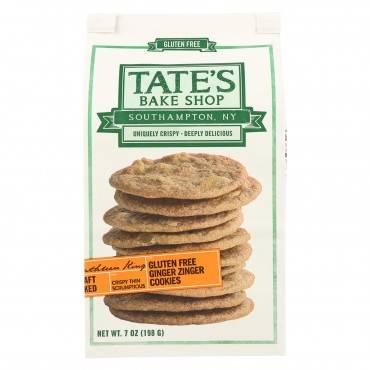 Tate's Bake Shop Ginger Zinger Cookies - Case of 12 - 7 oz.