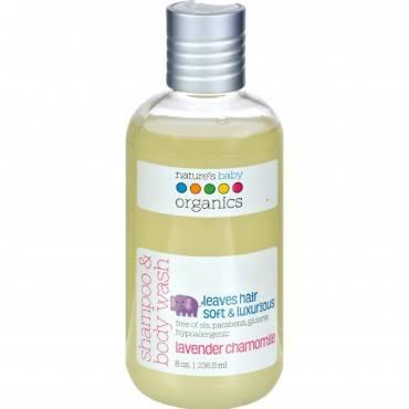 Nature's Baby Organics Shampoo and Body Wash Lavender Chamomile - 8 fl oz
