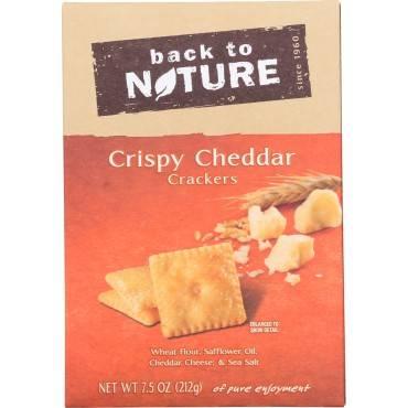 Back To Nature Crispy Cheddar - Case Of 6 - 7.5 Oz.
