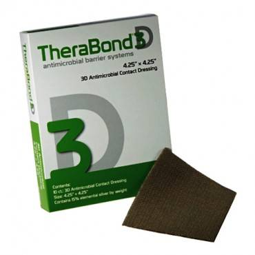 "Therabond 3d Antimicrobial Contact Dressing, 4.25"" X 4.25"" Part No. 3dac-44 (10/box)"