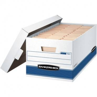 """Fellowes Bankers Box Stor/File - 24"""" Letter, Lift-Off Lid, 20pk (CA/CASE)"""