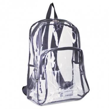 Eastsport  Backpack, Pvc Plastic, 12 1/2 X 5 1/2 X 17 1/2, Clear/Black