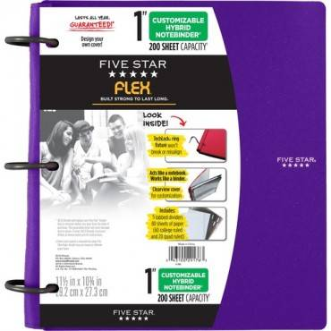 "Five Star FiveStar Flex Hybrid 1"" NoteBinder (EA/EACH)"