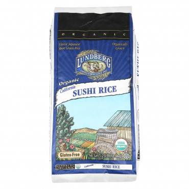 Lundberg Family Farms Organic Sushi Short Grain White Rice - Case Of 25 Lbs
