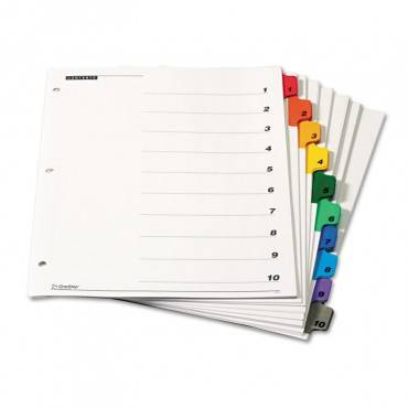 Onestep Printable Table Of Contents And Dividers, 10-tab, 1 To 10, 11 X 8.5, White, 6 Sets