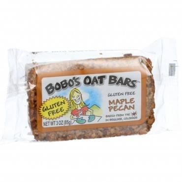 Bobo's Oat Bars - All Natural - Gluten Free - Maple Pecan - 3 Oz Bars - Case Of 12