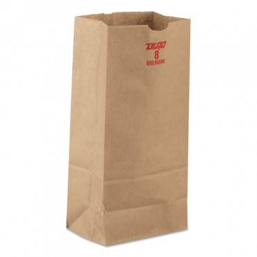 #8 Paper Grocery, 60lb Kraft, Extra-Heavy-Duty 6 1/8x4 1/6 X12 7/16, 1000 Bags