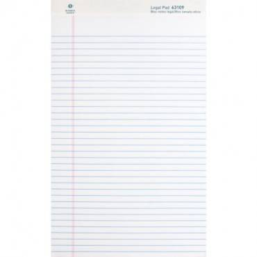 Business Source Micro - Perforated Legal Ruled Pads - Legal (DZ/DOZEN)