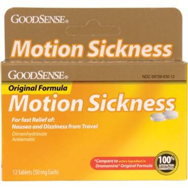 Motion Sickness Tablet (12 Count) (12/Box)