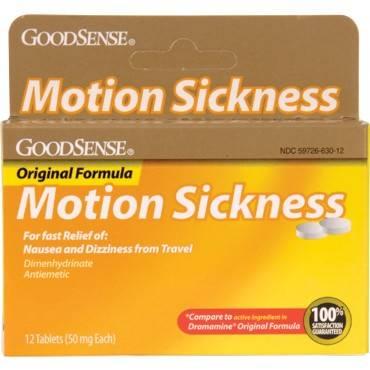 Motion Sickness Tablet (12 Count) Part No. PLD00089 Qty  Per Box
