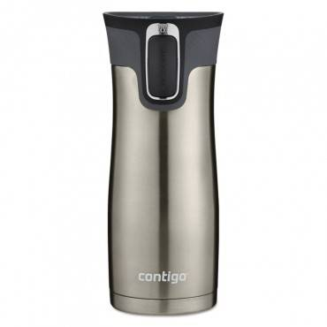 West Loop Autoseal Travel Mug, 16 Oz, Stainless Steel