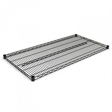 Alera  Industrial Wire Shelving Extra Wire Shelves, 48w X 24d, Black, 2 Shelves/Carton