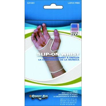 "Wrist Support Sport-aidâ""¢ Sleeve Knitted Elastic Left Or Right Hand Beige Medium(1/ea)"