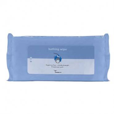 Bathing Wipe, Standard Weight, Fragrance Free. Part No. Btswpss (8/package)