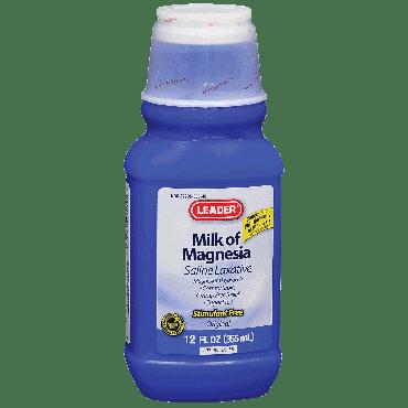 Leader Milk of Magnesia Original Suspension, 12 oz. Part No. 1460369 Qty 1
