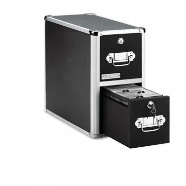 Vaultz  2-Drawer Cd File Cabinet, Holds 330 Folders Or 120 Slim/60 Standard Cases, Black