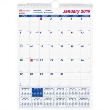 Rediform Ruled Block Monthly Wall Calendar (EA/EACH)