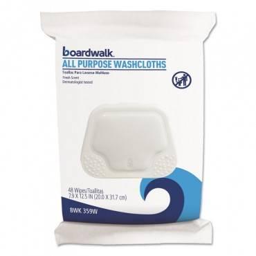 Boardwalk  Premoistened Personal Washcloths, 12 1/2 X 7 9/10, Fresh Scent, 48/pack BWK459WPK 48 package