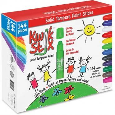 The Pencil Grip Kwik Stix 144-Piece Tempera Paint Sticks (BX/BOX)