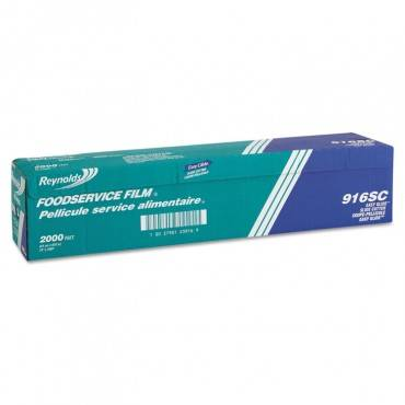 """Pvc Film Roll With Cutter Box, 24"""" X 2000 Ft, Clear"""