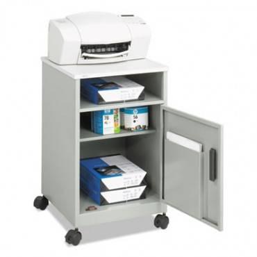 Steel Machine Stand W/compartment, One-shelf, 15-1/4w X 17-1/4d X 27-1/4h, Gray