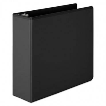 "Basic D-Ring View Binder, 3"" Cap, Black"
