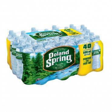 Natural Spring Water, Plain, 40 Per Carton