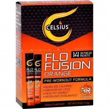 Celsius Flo Fusion - Powder Sticks - Orange - 14 Packets