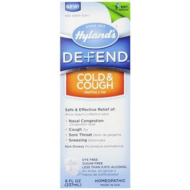Hylands Homeopathic Hyland's Defend - Cold and Cough - Case of 1 - 4 Fl oz.