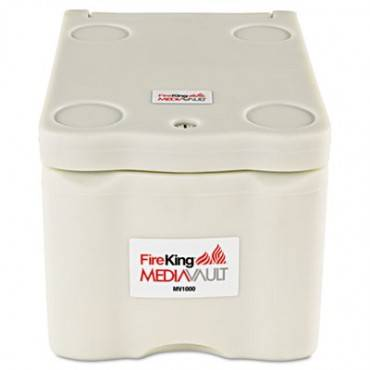 MEDIAVAULT, 0.2 CU. FT, 11 5/8 X 17 1/2 X 10 1/2, UL LISTED 125 FOR FIRE, WHITE