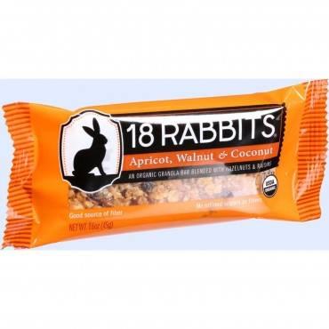 18 Rabbits Organic Granola Bar - Apricot Walnut and Coconut - Case of 12 - 1.6 oz Bars