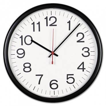 """Indoor/outdoor Clock, 13 1/2"""", Black"""