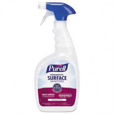 Foodservice Surface Sanitizer, Fragrance Free, 32 Oz Spray Bottle, 12/carton