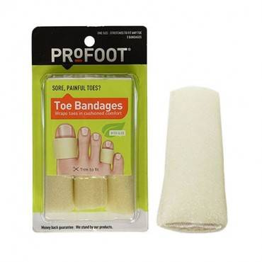 Toe Bandage Pad, Medium (3/Package)