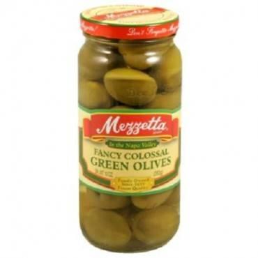 Mezzetta Green Olives - Fancy Colossal - Case Of 6 - 10 Oz.