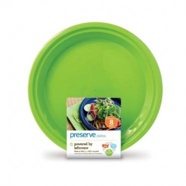 Preserve Large Reusable Plates - Apple Green - 8 Pack - 10.5 in
