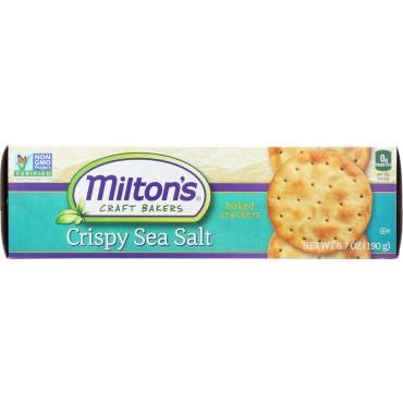 Miltons Gourmet Baked Crackers - Crispy Sea Salt And Butter - Case Of 12 - 6.7 Oz.