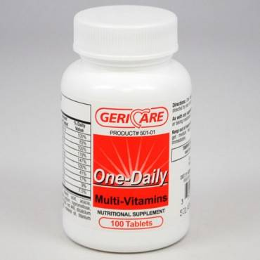 Gericare one-daily multivitamins Model: 501-01-GCP (100/EA)