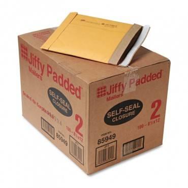 Jiffy Padded Peel & Seal Mailer, #2, 8 1/2 X 12, Natural Kraft, 100/carton