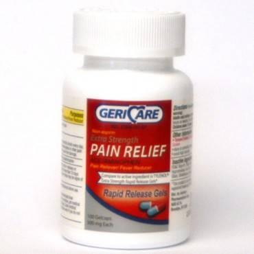 GERICARE Mapap Acetaminophen 500 mg Gelcaps (100/Each)