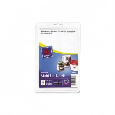 Removable Print-or-write Multi-use Labels, 3/4 X 1 1/2, White, 504/pack
