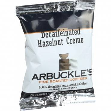 Arbuckles' Coffee - Decaffeinated Hazelnut Creme - 1.3 oz - Case of 10