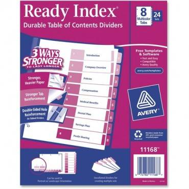 Avery® Ready Index Customizable Table of Contents Classic Multicolor Dividers (BX/BOX)